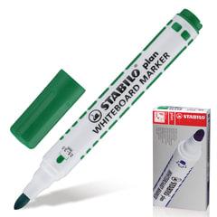 Маркер для доски STABILO «Plan», пулевидный наконечник 2,5-3,5 мм, 641/<wbr/>36, зеленый