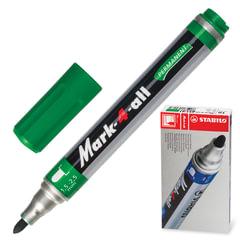 Маркер перманентный STABILO «Mark», пулевидный наконечник 1,5-2,5 мм, зеленый