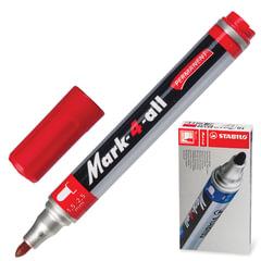 Маркер перманентный STABILO «Mark», пулевидный наконечник 1,5-2,5 мм, красный