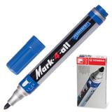 Маркер перманентный STABILO «Mark», пулевидный наконечник 1,5-2,5 мм, синий