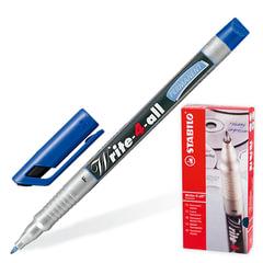 Маркер-ручка перманентная STABILO «Write», толщина письма 0,7 мм, синяя
