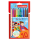 Фломастеры двусторонние STABILO «Trio», 10 цветов, капиллярная ручка с другой стороны