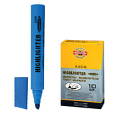 Текстмаркер KOH-I-NOOR, скошенный наконечник 1-5 мм, голубой