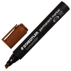 Маркер перманентный (нестираемый) STAEDTLER (Германия) «Lumocolor», скошенный, 2-5 мм, коричневый