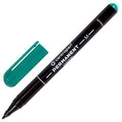 Маркер перманентный (нестираемый) CENTROPEN, круглый наконечник, 1 мм, зеленый