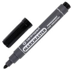 Маркер перманентный универсальный для любой поверхности CENTROPEN «Marksmaster», 1,5 мм, черный