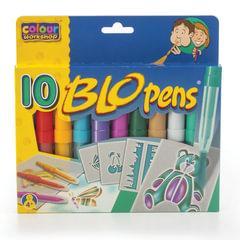 Фломастеры воздушные CENTROPEN «Blopens Cool Colours», 10 цветов + 4 трафарета, европодвес