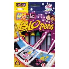 Фломастеры воздушные CENTROPEN «Blopens Magic», 5 + 1 цвет + 8 трафаретов, европодвес