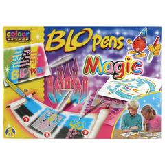 Фломастеры воздушные CENTROPEN «Blopens Magic», 8+2+1 цвет + 8 трафаретов, коробка