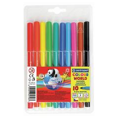 Фломастеры CENTROPEN «Color World», 10 цветов, эргономичная форма, смываемые, вентилируемый колпачок