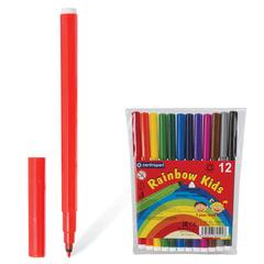 Фломастеры CENTROPEN «Rainbow Kids», 12 цветов, смываемые, эргономичные, вентилируемый колпачок