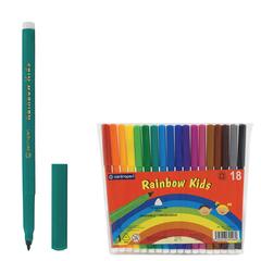 Фломастеры CENTROPEN «Rainbow Kids», 18 цветов, смываемые, эргономичные, вентилируемый колпачок