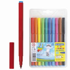 Фломастеры CENTROPEN, суперсмываемые, 10 цветов, вентилируемый колпачок, пластиковая упаковка, европодвес