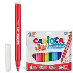 Фломастеры CARIOCA (Италия) «Joy», 18 цветов, суперсмываемые, вентилируемый колпачок, картонный конверт
