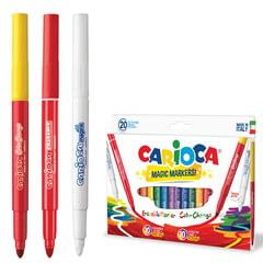 Фломастеры CARIOCA (Италия) «Magic», 20 штук, 18 цветов + 1 изменяющий цвет + 1 стирающий, картонная коробка
