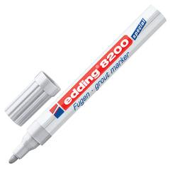 Маркер для затирки плиточных швов EDDING, 2-4 мм, запасные наконечники, серебристо-серый