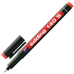 Маркер для пленок и глянцевых поверхностей EDDING 140, 0,3 мм, металлический наконечник, красный