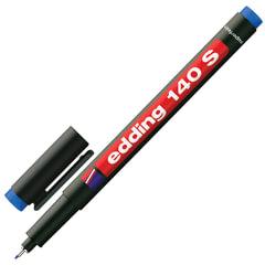 Маркер для пленок и глянцевых поверхностей EDDING 140, 0,3 мм, металлический наконечник, синий