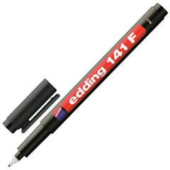 Маркер для пленок и глянцевых поверхностей EDDING 141, 0,6 мм, пластиковый наконечник, черный