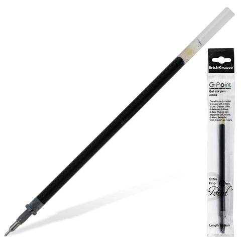 """Стержень гелевый ERICH KRAUSE """"G-Point extra fine"""", 129 мм, игольчатый пишущий узел, 0,38 мм, черный"""