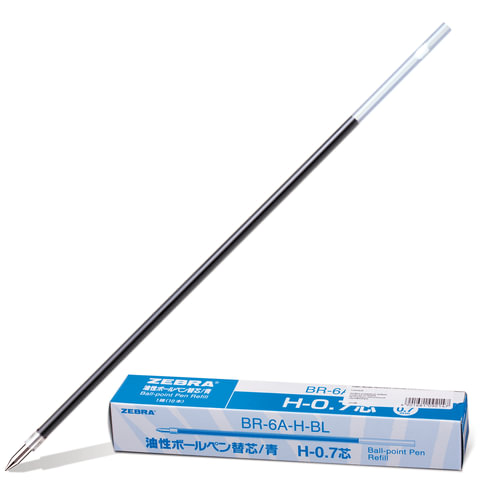 Стержень шариковый ZEBRA «H», 140 мм, евронаконечник, 0,7 мм, BR-6A-H-BL, синий
