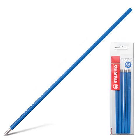 """Стержни шариковые STABILO """"Liner"""", набор 10 шт., 135 мм, узел 0,7 мм, линия 0,3 мм, синие"""