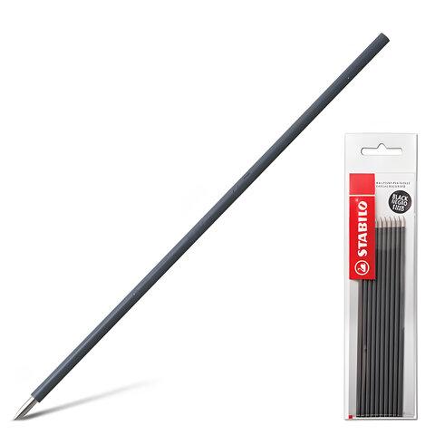 """Стержни шариковые STABILO """"Liner"""", набор 10 шт., 135 мм, узел 0,7 мм, линия 0,3 мм, черные"""