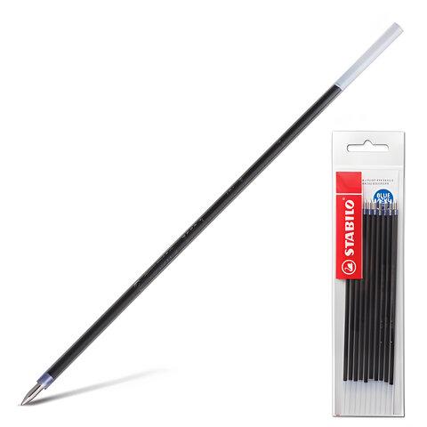 """Стержни шариковые STABILO """"Bille"""", набор 10 шт., 135 мм, узел 0,7 мм, линия 0,38 мм, синие"""