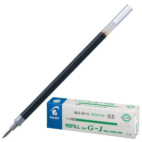 Стержень гелевый PILOT BLS-G1-5, 128 мм, евронаконечник, толщина письма 0,3 мм, к ручке 141839, зеленый