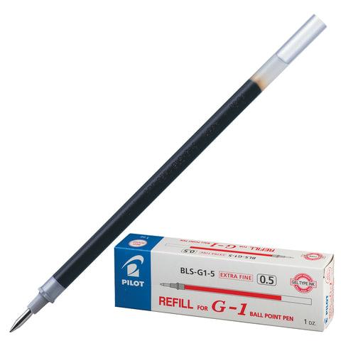Стержень гелевый PILOT BLS-G1-5, 128 мм, евронаконечник, толщина письма 0,3 мм, к ручке 141840, красный