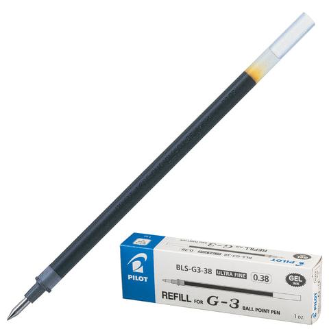 Стержень гелевый PILOT BLS-G3-38, 128 мм, евронаконечник, толщина письма 0,2 мм, к ручке 141845, черный