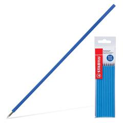 Стержни шариковые масляные STABILO «Performer», набор 10 шт., 135 мм, узел 0,7 мм, линия 0,38 мм, синие