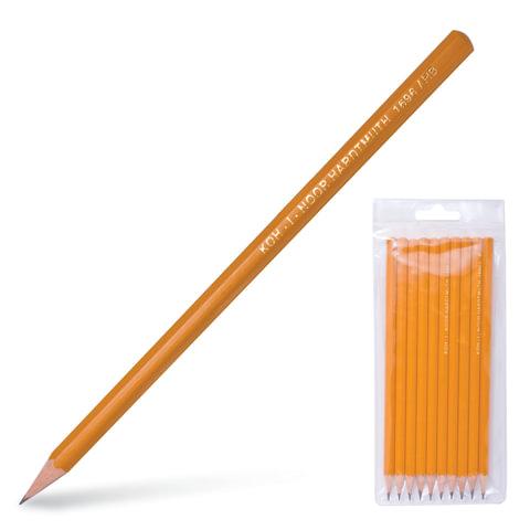 Карандаши чернографитные KOH-I-NOOR, набор 10 шт., 2Н, Н-2, НВ-4, В-2, 2В, пластиковая упаковка, европодвес