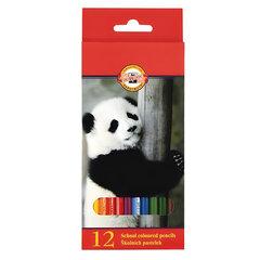 Карандаши цветные KOH-I-NOOR «Animals», 12 цветов, грифель 2,8 мм, заточенные, европодвес