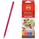 Карандаши цветные акварельные художественные KOH-I-NOOR «Mondeluz», 18 цветов, 3,8 мм, заточенные, европодвес