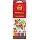 Карандаши цветные акварельные KOH-I-NOOR «Mondeluz», 18 цветов, грифель 3,8 мм, заточенные, картонная упаковка с европодвесом