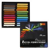 Пастель художественная «Северное сияние», сухая, 24 цвета