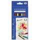 Карандаши цветные акварельные ГАММА «Лицей», 12 цветов, картонная упаковка с европодвесом