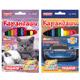 Карандаши цветные ПИФАГОР «Котята, Автомобили», 12 цветов, яркие цвета, утолщенные, заточенные