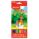 Карандаши цветные BRAUBERG (БРАУБЕРГ) «My lovely dogs», 12 цветов, заточенные, картонная упаковка