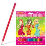 Карандаши цветные BRAUBERG (БРАУБЕРГ) «Pretty Girls», 24 цвета, заточенные, картонная упаковка