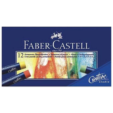 """Пастель масляная художественная FABER-CASTELL """"Studio quality"""", 12 цветов, круглое сечение"""
