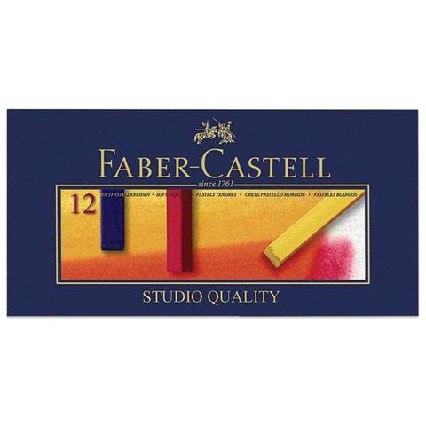 """Пастель мягкая художественная FABER-CASTELL """"Gofa"""", 12 цветов, квадратное сечение"""
