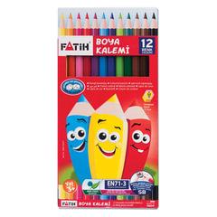 Карандаши цветные PENSAN (FATIH), 12 цветов, заточенные, картонная упаковка