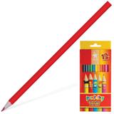 Карандаши цветные KOH-I-NOOR «Centi», 12 цв., грифель 2,65 мм, заточенные, картонная упаковка с европодвесом