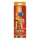Карандаши цветные KOH-I-NOOR «Centi», 18 цв., грифель 2,65 мм, заточенные, картонная упаковка с европодвесом
