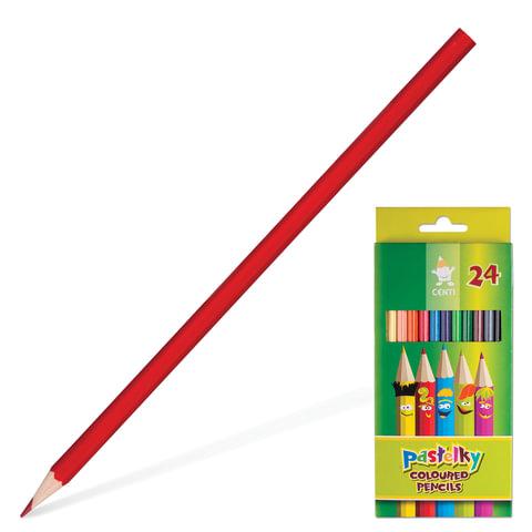 Карандаши цветные KOH-I-NOOR «Centi», 24 цв., грифель 2,65 мм, заточенные, картонная упаковка с европодвесом