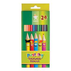Карандаши цветные KOH-I-NOOR «Centi», 24 цвета, грифель 2,65 мм, заточенные, европодвес