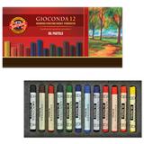 Пастель художественная KOH-I-NOOR «Gioconda», масляная, 12 цветов, круглое сечение, картонная коробка