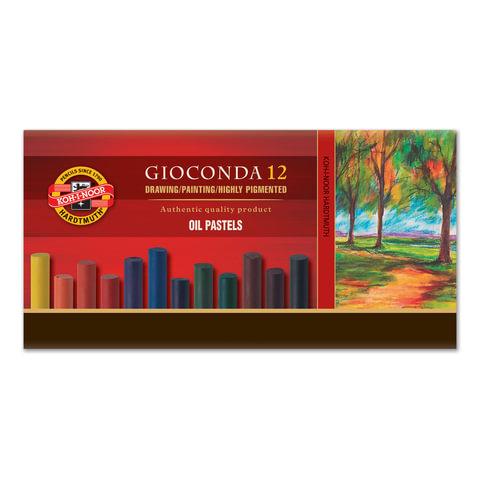 """Пастель масляная художественная KOH-I-NOOR """"Gioconda"""", 12 цветов, круглое сечение"""